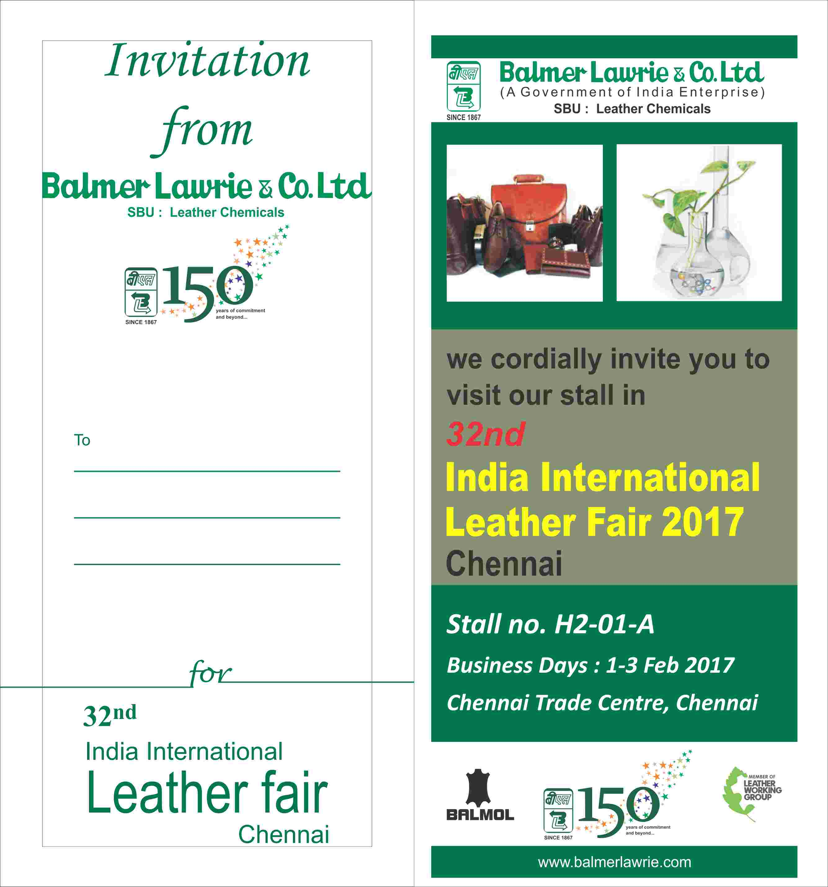 BL invites for India International Leather Fair 2017